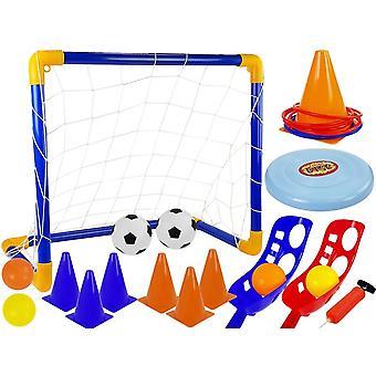 Sportovní hry nastavit fotbal s cílem - lakros - pěšci