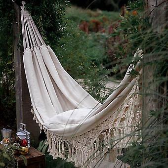 200Cm * 150cm hammock boho نمط البرازيلي macrame مهدب فاخر مزدوج أرجوحة صافي كرسي داخلي شنقا سوينغ ديكور المنزل