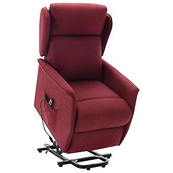 vidaXL recliner with rise-up aid wine red fabric