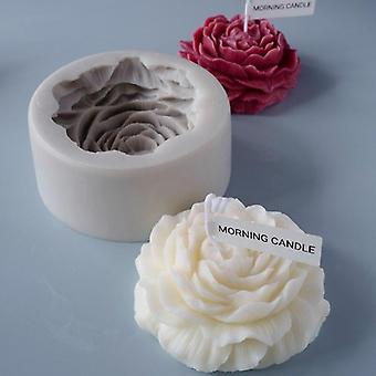 9.5 * 4Cm homemade by hand peony-shaped scented candle silicone mold
