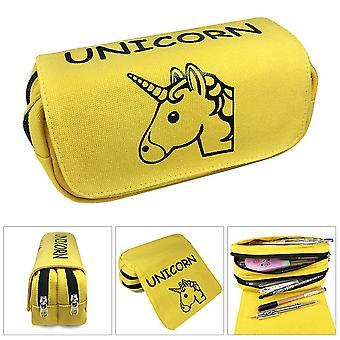 Unicorn double-layer pencil case for children with large capacity(Color-5)