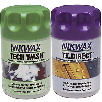 Nikwax TX.Direct Wash-IN/Tech Wash 300ml Twin PK Box6 [0103]
