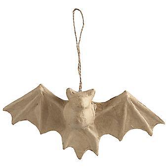 23cm Papel Colgante Mache Bat para Manualidades de Halloween