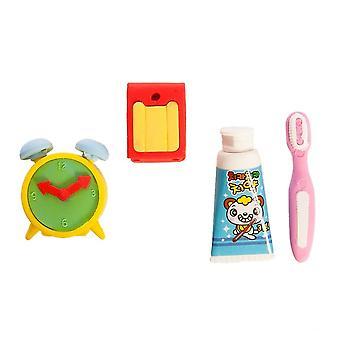 Nektar Design 3D Eraser Set, Interesting Products, Toy, For Children, Child Development, 4 Pieces, 2-3 cm
