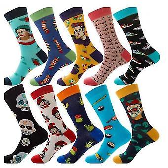 10 Pairs Of Socks Holiday Winter Holiday Spree Men's Socks Christmas Animal Fruit Socks(S6)