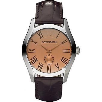Emporio Armani AR0645 Brown Leather Champagne Dial Chronograph Watch