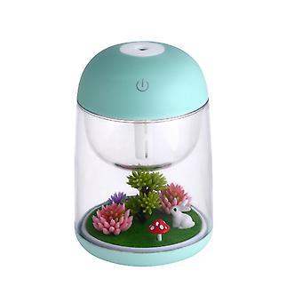 Household Small Air Purifier Micro Landscape Colorful Humidifier USB Night Light Humidifier-Green