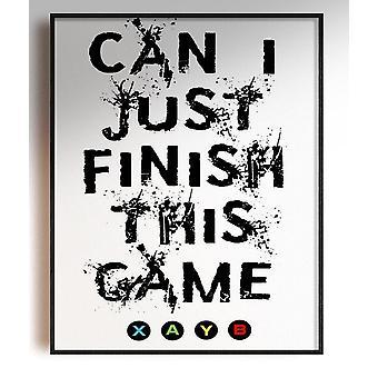 GnG Gaming A4 Word Sitat Innrammede Plakater For Barn Soverom Kunstverk Kan Jeg Fullføre XB