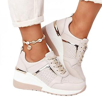Women's Casual Shoes Lace-up Sneakers Breathable Tennis Shoes Basketball Shoes