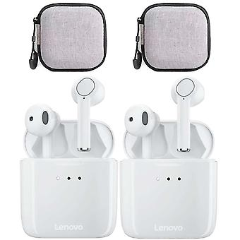 Lenovo Qt83 Wireless Bluetooth Earphones With Call Microphone Headset With Earphone Case