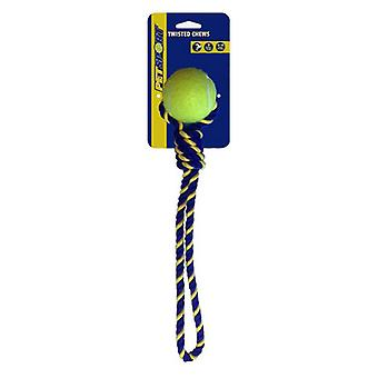 """Petsport Knotted Cotton Rope Tug with Tuff Ball - 1 count (2.5""""W)"""