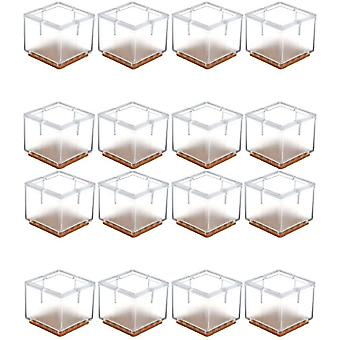 16 Pieces Of Square Protective Pads For Furniture, Tables And Chairs (30-35mm)