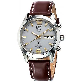 ONE (Eco Tech Time) Brown Genuine Leather EGS-11248-12L Men's Watch