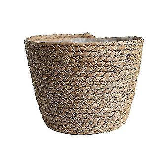 Vases nordic style straw flower and plant vase storage baskets for decor primary color-02