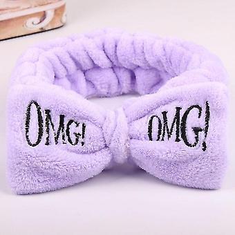 Mooie oh mijn god boog hoofdbanden voor vrouwen en meisjes (Paars)