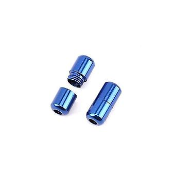 2 Stück moderne Aluminium-Schnürsenkelschnallen (Königsblau)