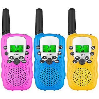 Walkie-talkie de 3 piezas con radio de 22 canales