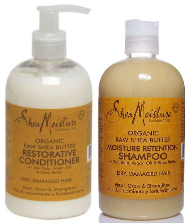 Shea Moisture Raw Shea Butter Restorative Shampoo and Conditioner 13oz
