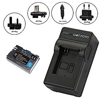 Dot.Foto LP-E6N PREMIUM 7.4v / 1865mAh Battery and Battery Travel Charger for Canon - 100-240v Mains - 12v in-car adapter [See Description for Compatibility]