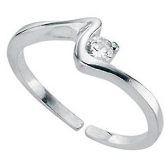 925 zilveren modieuze verstelbare teen Ring