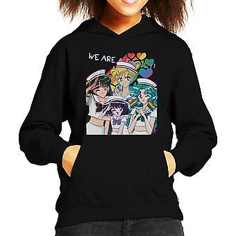 我々 は、美少女戦士セーラームーン家族子供フード付きスウェット シャツ
