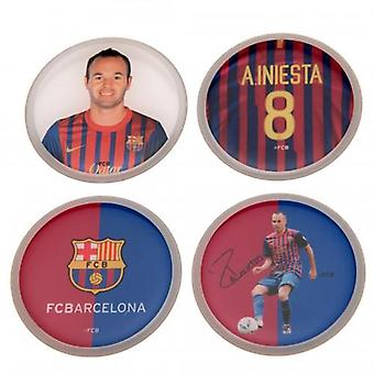 Barcelona 3D Stickers 4pk Iniesta