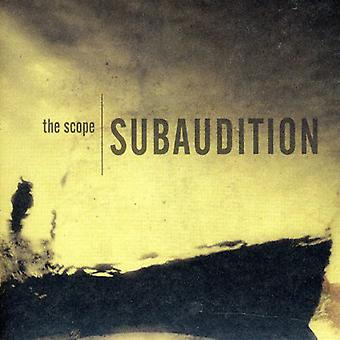 Subaudition - Scope [CD] USA import