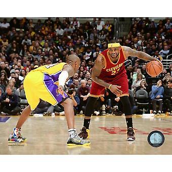 Lebron James & Kobe Bryant 2015 Action Photo Print (8 x 10)