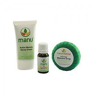 Manuka Naturals Eczema Combo - With Manuka Soap, Oil and Cream