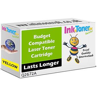 Compatível HP 309A amarelo Q2672A cartucho para HP Colour LaserJet 3550