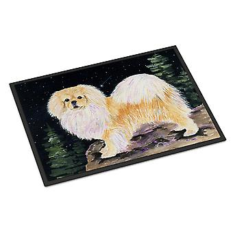 Starry Night Tibetan Spaniel Indoor or Outdoor Mat 24x36 Doormat