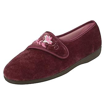 Ladies Sleepers Floral Print Slippers 204999 - Pink Textile - UK Size 5 - EU Size 37.5 - US Size 7