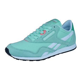 Reebok Classic Nylon delgado HV mujeres zapatillas zapatos - verde