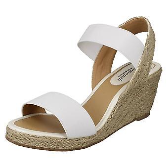 Ladies Savannah Rope Wedge Sandals F2270