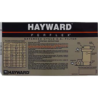 Hayward ECX1230 calcomanía operación