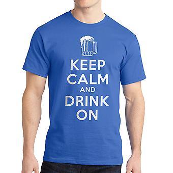 Humor halten Sie ruhig trinken auf Königsblau T-shirt für Männer