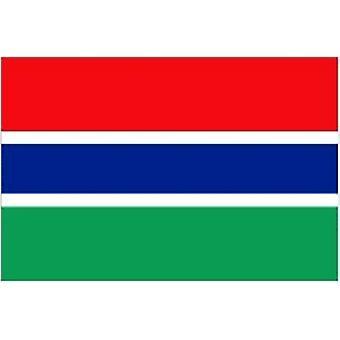 Gambian lippu 5 jalkaa x 3 ft jossa ripustamista varten