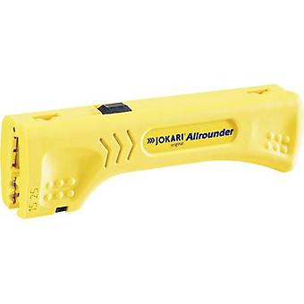 Jokari 30900 Allrounder Cable stripper Suitable for Round cable, Ribbon cable, Coaxial cables, CAT5 cables, CAT6 cables, CAT7 cables 4 up to 15 mm 1.5 up to 50