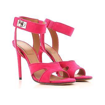 Givenchy Stilett hæler sandaler i fuxia semsket skinn