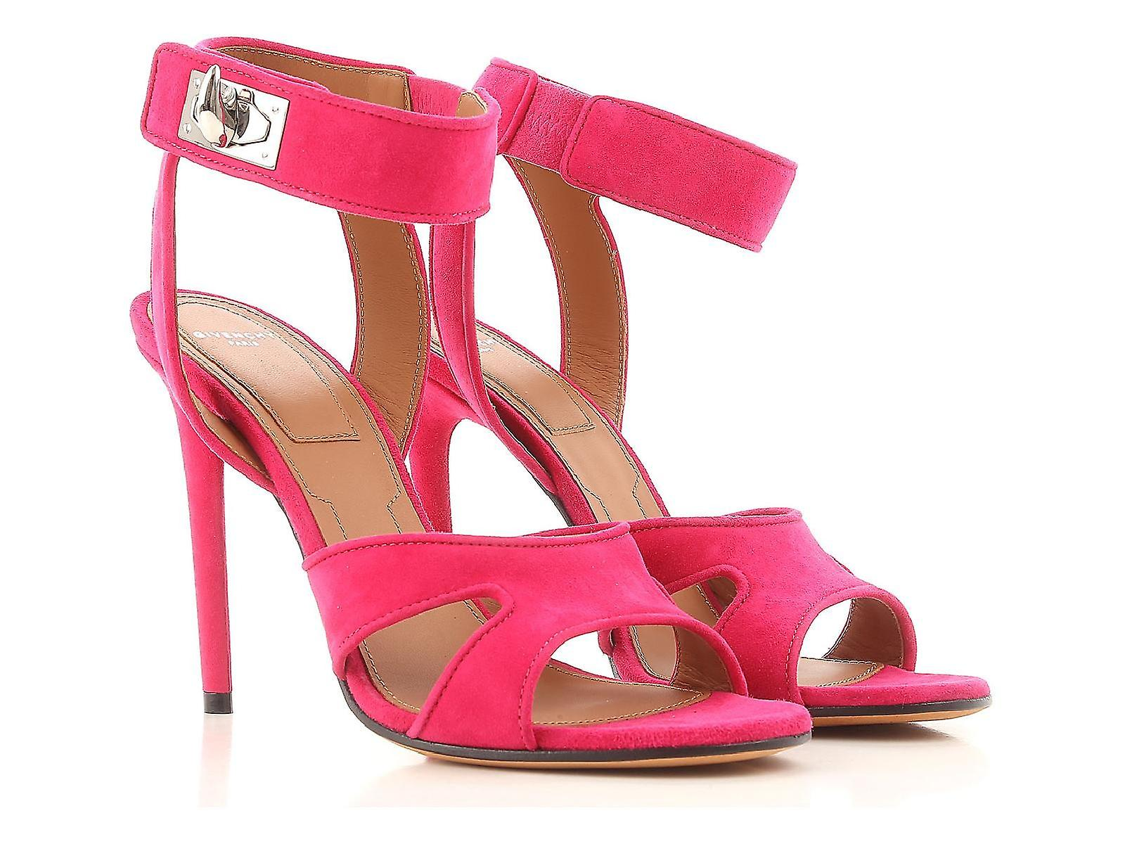 Givenchy stiletto heels sandals in fuxia suede leather T93R2