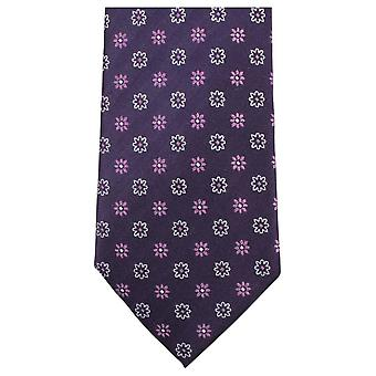 Knightsbridge Neckwear Small Flower Tie - Purple