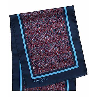 Simon Carter impreso pañuelo de Paisley - Marina de guerra