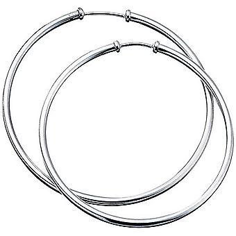 Beginnings Plain Hoop Earrings - Silver