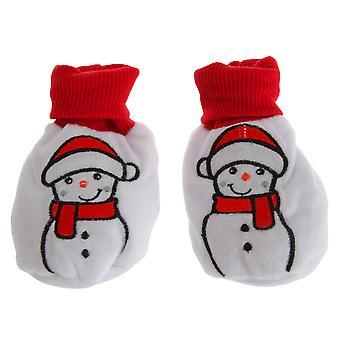 Nursery Time Baby Christmas Snowman Booties