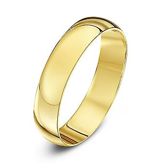 Star Wedding Rings 9ct Yellow Gold Light D Shape 4mm Wedding Ring