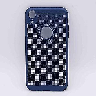 Für IPhone XR Fall-Metal Wire mesh Look-blau