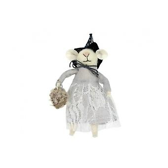 Gisela Graham Halloween Witch Mouse