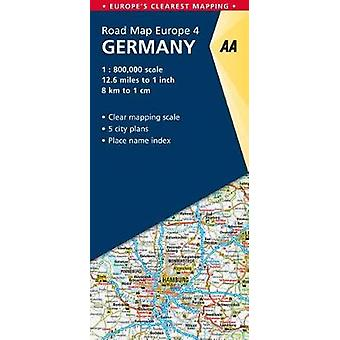4. Germany - AA Road Map Europe by AA Publishing - 9780749579166 Book