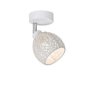 Vintage Tahar lucide rond métal blanc plafonnier Spot