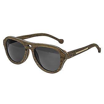 Earth Wood Clearwater Polarized Sunglasses - Walnut & Rosewood/Black